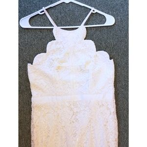 Lulu's Lace Cream Gown